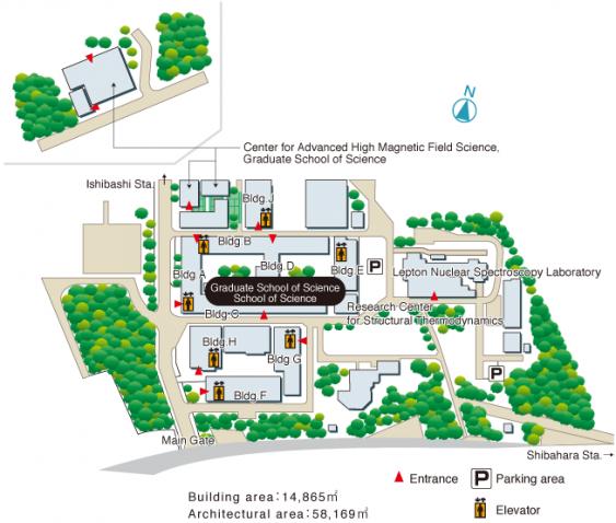 Buildings of Graduate School of Science