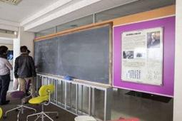 湯川秀樹先生愛用の黒板を設置